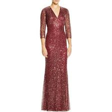 KAY UNGER ~ Wine Red Lace Overlay Sequined Sheath Formal Gown 4 NEW $640