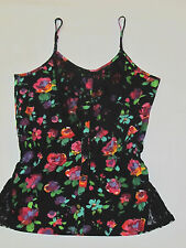 New Without Tags O'Neill Black Floral Flower Lace Tank Top Shirt Size Small