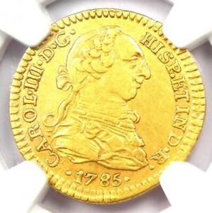 1785-MO Mexico Gold Charles III Escudo - Certified NGC AU50 - Rare Gold Coin
