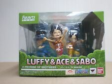 Bandai Figuarts Zero One Piece Luffy Ace Sabo Promise of Sworn Brother Figure