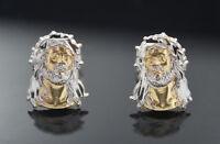 Jesus Face Earrings  14k Gold Push Back  (1 Pair) 2667