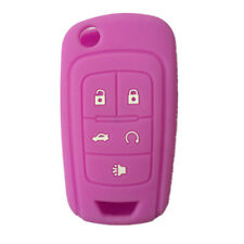 Purple Silicone Cover Holder Flip Key Fob Cover fit for Chevrolet 5 buttons