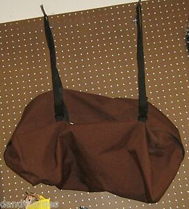 """New Duffle Storage Gear Bag Luggage 26"" x14"" x 9"" Brown Cloth Adjustable Straps"