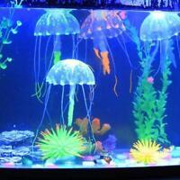 5X Künstliche Fluoreszenz Simulation Quallen Aquarium Ornament Dekorationen