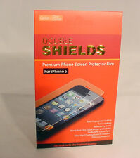 Double Shields Premium Phone Screen Protector Film For Iphone 5 #66-Aa