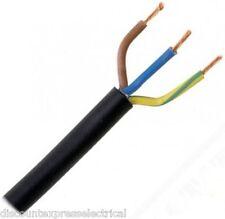 1.5mm 3 Core Flex Round PVC Electric Cable Black 3183Y 100m Reel