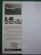 8/1982 PUB AVIAEXPORT URSS MOSCOU CCCP IL-86 AEROFLOT SOVIET AIRLINES FRENCH AD