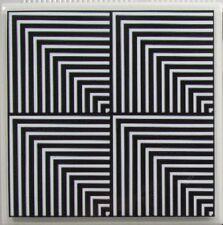 Handmade Stone Ceramic Tile Marble Drink Coasters - Set of 4 - Illusion 5 B