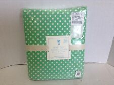 Pottery Barn Kids Mini Polka Dot Organic Twin Bright Green Bed Duvet Cover