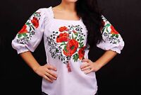 Ukrainian embroidered sorochka, women's blouse, vyshyvanka, embroidery, Size - M