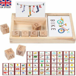 3-in-1 Spelling Learning Game Wooden Spelling Words Enlightenment Baby kids Toys