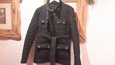 Black Quilted Coat Jacket Size 10