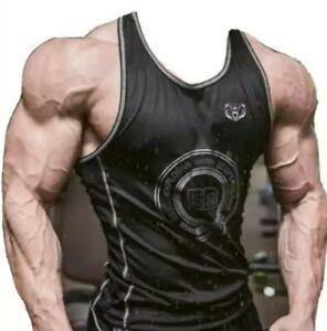 🐻 UK S. Explosive Bear - Bodybuilding Golds quality gym vest. Black. Brand New.