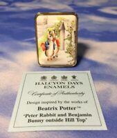 RARE LE Halcyon Days Enamels Beatrix Potter Peter Rabbit Hill Top Box 38/50 EUC