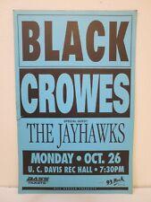 Vintage Original Concert Poster Black Crowes - Jayhawks 1992 Bill Graham Prod