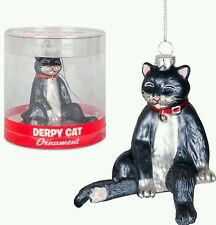 Black & White Cat Silly Fun! CHRISTMAS ORNAMENT CAT LADY Joke Novelty Kittens