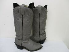 Acme Gray Leather Tall Cowboy Boots Womens Size 6.5 M Style 564 USA
