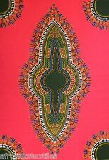 "African Dashiki Angelina 100% Cotton Print 4 Crafts & Dresses Per Panel 45""x32"""