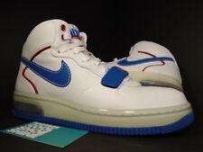 2007 Nike Air Force 1 Mid SUPREME MAX CB 34 BARKLEY ALPHA WHITE RED BLUE Sz 7.5