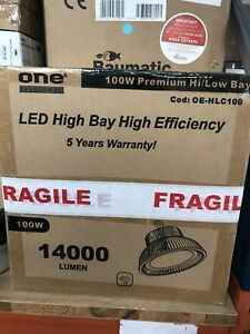 LED High Bay Light Fitting 'UFO' 4000K 1400 Lumen Warehouse Lights Factory Light