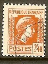 "FRANCE TIMBRE STAMP N° 641 "" MARIANNE D' ALGER 2F40 "" OBLITERE TB"