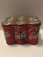 Coke Cola 6 pack Tin Vintage Empty