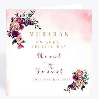 311 10 Personalised chocolate squares wedding favour wrapped Walima Mehndi