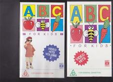 ABC FOR KIDS VOLUME 1&2 VIDEOS  PAL VHS