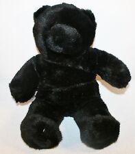 "Build a Bear Workshop All Black Bear lodge cabin decor Plush stuffed Animal 15"""