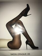 Wolford Satin Opaque 50 Tights Color: Monument Size: Extra Small 18379 - 07