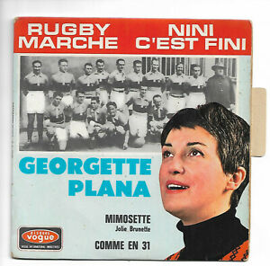 """GEORGETTE PLANA  """" RUGBY MARCHE """"  (EP 4 titres)"""