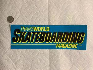 Vintage skateboard sticker Transworld Magazine Thrasher NOS dogtown sims Powell