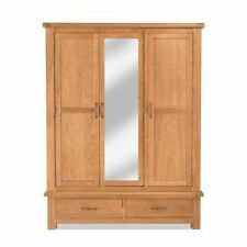 Oak Wardrobes with Mirrors and 3 Doors
