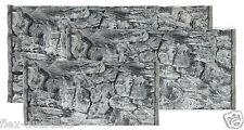 3D Aquariumterrarium Grey Decor Back Panel Struckturrückwand Stones Slate Rocks