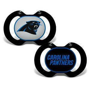 Carolina Panthers Baby Pacifier Set - Officially Licensed NFL BPA Free 2 Pack