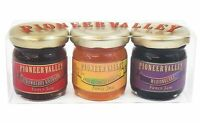 Pioneer Valley Mini Jam Gift Marionberry, Apricot Pineapple, Strawberry Rhubarb