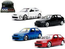 Jada 1:32 JDM Tuners 1997 Honda Civic EK Type-R Display Blue/ Black / Red/ White