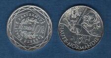 10 Euro Série des Régions 2012 Personnage Argent SUP - Haute Normandie