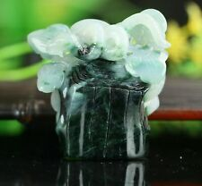 Cert'd 2 Color Natural Grade A Jade jadeite Sculpture Statue snake a436842
