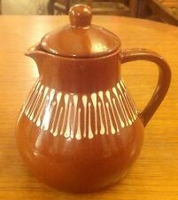 Teekanne/Keramik Kanne/Kaffeekanne/Kaffee, Teeservice/ Bunzlau ? Braun mit Crem