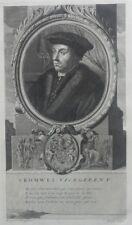 GRANDE GRAVURE portrait XVIIe THOMAS CROMWELL armoiries