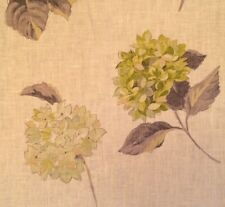 DESIGNERS GUILD Elenora Floral Linen Green Gold Taupe Remnant New