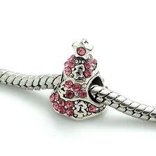 1pcs Silver Christmas tree CZ European Charm Beads Fit 925 Necklace Bracelet#275