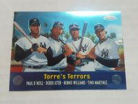 DEREK JETER 2000 TOPPS CHROME COMBOS #TC3 TORRE'S TERRORS NY YANKEES