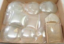 Lot Of Vintage Nos Mantel Shelf Clock Case Bezel Glass Parts Repair