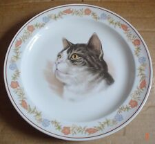 Wood And Sons Collectors Plate Tabby Cat