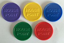 More details for house point tokens - 35mm - home school, reward - bag of 100 - five colours