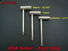 "3pc Truss Rod Wrench Set, Fits PRS Ibanez Gibson etc  6.35mm 7mm 8mm 1/4"" 5/16"""