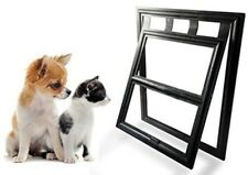 Pet Screen Door Moustiquaire - Dog & Cat Door Window Black 20cm x 25cm