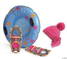 American Girl Chrissa's Snow Gear Snowshoes Tube Mittens Hat NIB LE Winter Tub
